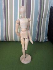 "Wooden Wood Figure 12.5""  Amputee Sculptor Mannequin Human Artist Drawing Model"