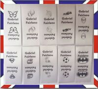 25 Woven /Sew in School Uniform/Cloth washable washproof name labels/tags/tapes