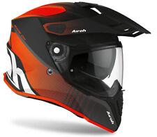 Motorcycle Helmet Motard Enduro off Road Airoh Commander Progress Black Orange