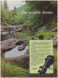 Original 1983 Mercury Marine Outboards Print Ad Vintage