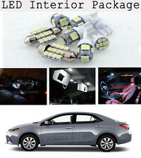 6 x Xenon White LED Interior Lights Bulbs For 2015 2016 Toyota Corolla S LE KP