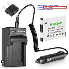 Kastar Battery Travel Charger for Canon NB-11L CB-2LD & Canon IXUS 180 IXUS 185