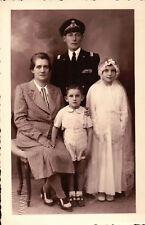 FOTO DI FAMIGLIA CON MILITARE DELLA REGIA MARINA - 1940 CIRCA - VOGHERA