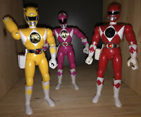 BANDAI MIGHTY MORPHIN POWER RANGERS 8 INCH ACTION FIGURES GOLD TEAM LOT