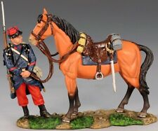 KING & COUNTRY FIRST WAR FW067 WW1 FRENCH POILU ATTENDING TO GENERALS HORSE MIB