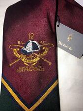Exclusive Rare 2008 Collec Polo Ralph Lauren Equestrian Silk Tie Hand Made Italy
