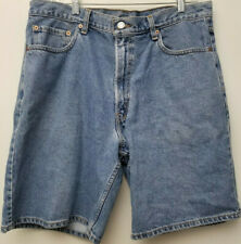 Men LEVIS 550 DENIM SHORTS Sz 36 Relaxed Fit 100% Cotton Red Tab Shorts Blue