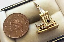 """Lovely Vintage Full Hallmarked Heavy 9ct Gold Church Wedding Charm """" Opens Up """""""