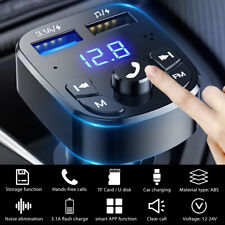 Bluetooth 5.0 FM Transmitter Auto MP3 Player USB Stick KFZ SD Freisprechanlage.