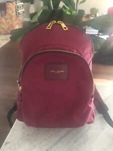 Marc Jacobs  Backpack Nylon Medium Burgundy Wine 100% Authentic Pre-owned