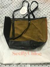 BRAND NEW GENUINE See by CHLOE TOTE BAG Ladies mini suede mustard orange black