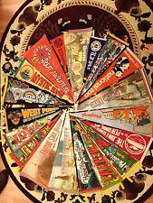 Lot of  Vintage Pennants Travel Souvenirs 1960s+  Colorful Felt