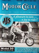 18 Apr 1957 A.J.S. 'Model 30' 600cc Motor Cycle ADVERT - Magazine Cover Print