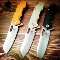 D2 Blade Ball Bearing Knives Tactical Folding KnifeG10 Handle Survival Knife EDC