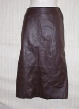 Talbot's Leather Brown Pencil Skirt Below Knee Size:4
