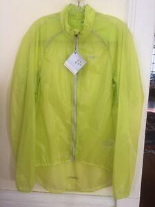 New Men's Craft Active Light Rain Jacket Size Large Yellow