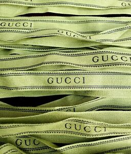 Gucci Green 5/8 Inch Cotton Ribbon - $20 for two yards....Free Shipping
