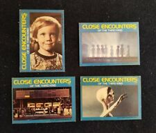1977 Close Encounters Of The Third Kind, Wonder Bread Trading Cards Lot of 4
