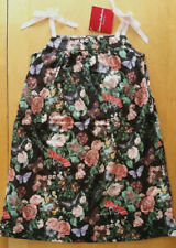 Nwt Hanna Andersson Ribbon Sundress Black Floral Butterfly Dress 120 6 7 8 New