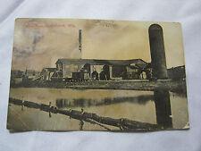 1915 Saw Mill Tomahawk Wi Antique Postcard T*