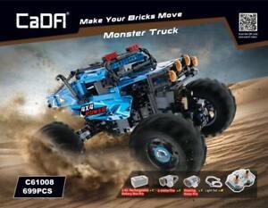 CaDA C61008W 4x4 Power Monster Truck RC Klemmbausteine LED Auto Modell NEU