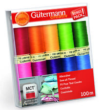 GUTERMANN SEW-ALL THREAD SET 734006 BRIGHT COLOURS - 10 X 100M REELS