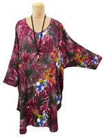 Lagenlook Boho Oversized High Low Tunic Kaftan Size 16 18 20 22 24 26