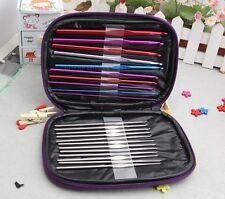 22 PCS Multi Color Aluminum Stainless Steel Crochet Hooks Needles Set Fine