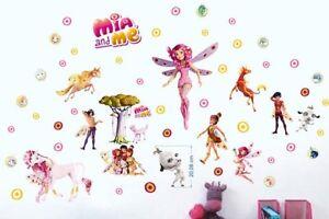 Wandtattoo Mia and Me Einhorn Kinder Zimmer Wand Aufkleber Wand Deko Wandsticker