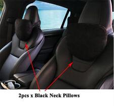 2PCS Soft Car Seat Headrest Neck Pillow Cushion for Tesla Model S X 3 Black