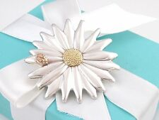 Tiffany & Co Silver Ladybug Gold Flower Daisy Brooch Pin Box Included