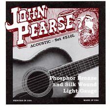 1 Set! John Pearse 510 510L Acoustic Guitar Strings Phosphor Bro/Silk .011-.049W