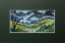 Original Painting (incl. 6x4 inch mount) by Bill Lupton - Green Hills