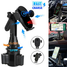 15W Qi Wireless Charge Fast Charging Car Cup Mount Holder Stand For Cell Phone