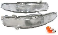 fit 93-97 Ford Probe GT SE Clear Front Bumper Signal Light PAIR