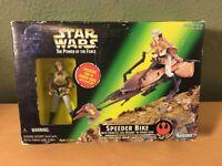 Vintage 1997 Star Wars Speeder Bike Princess Leia Organa In Endor Gear