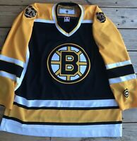 Vintage 2000's Boston Bruins Koho NHL Hockey Jersey With Patches!! Size XL