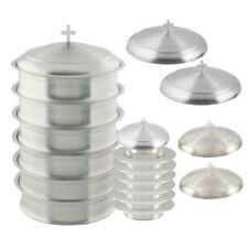 Holy 6 Wine Serving Trays and 6 Stacking Bread Plates With 2 Lids - S.S.