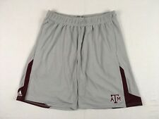 NEW adidas Texas A&M Aggies - Gray Poly Shorts (XL)