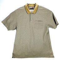 Grand Slam Mens XL Tan Dry Knit Dynamics Mercerized Polo Golf Shirt Diamond
