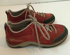Dansko Sabrina Red Suede Shoes Sneakers Laces EUR 37 US 6/5-7 Slip Resistant