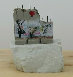 Banksy Walled Off Hotel Girl With Red Balloon Wall Sculpture + Welcome Letter's