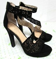 Jessica Simpson women's size 10 black very high heel ankle strap sandals sexy