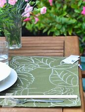 2x Olive Green Double Layer Place Mat/ Doily,30x48cm(12x18in),Embroidery,FFD033G