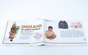 National Geographic Supplement Indians Of North America Vintage 1972 G946