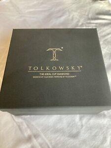 Tolkowsky 18ct White Gold 3/4c Diamond Engagement Ring and Wedding Band