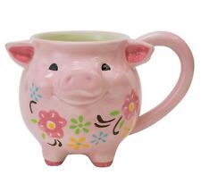 Boston Warehouse Earthenware Pig Mug