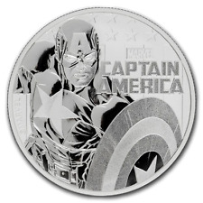 TUVALU 1 Dollar Argent 1 Once Captain America 2019