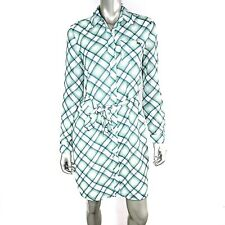 Tommy Hilfiger Womens Dress Small Green Plaid Button Up Long Sleeve Collared