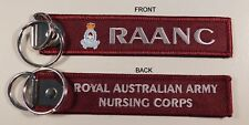 ROYAL AUSTRALIAN ARMY NURSING CORPS (RAANC) KEY TAG 25MM X 125MM WITH RING
